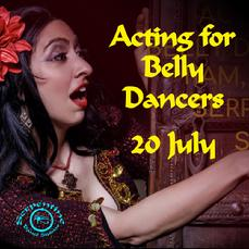 Acting for belly dance button